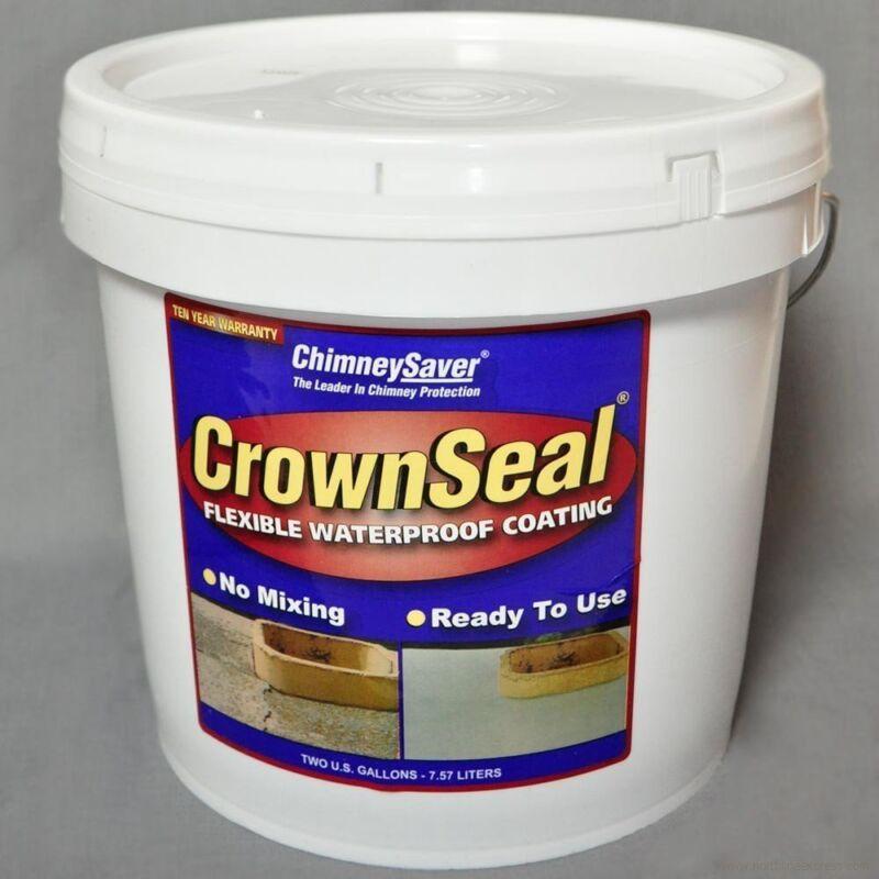 CrownSeal Premixed Waterproof Chimney Crown Coating - 2 gallons