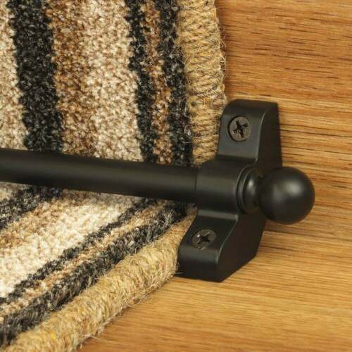 Black 76cm long Hollow Cheap High Quality Stair Rod
