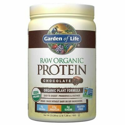 Garden of Life Raw Organic Protein - Chocolate 664 g - Vegan,...