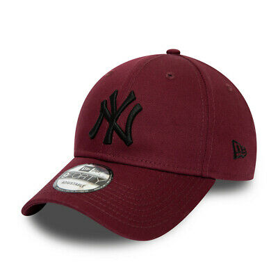 NEW ERA NEW YORK YANKEES BASEBALL CAP.9FORTY MAROON COTTON ESSENTIAL HAT S20 85