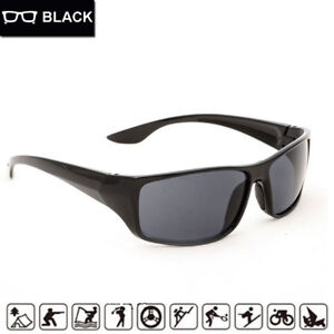 f352ccf4a3e8 MENS WOMENS UNISEX BLACK SUNGLASSES WRAP AROUND SPORT SKIING BIKER MODERN  STYLE