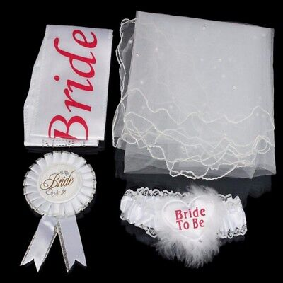 Bride To Be Party Sash Veil Hen Night Bachelorette Carnival Party Cosplay Props - Bride To Be Sash