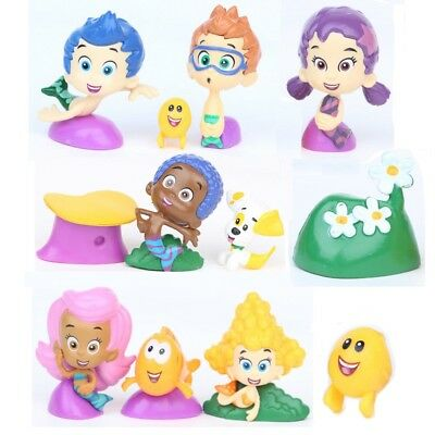 12pc Bubble Guppies Playset Molly Gil 12 Figure Cake Topper Toy Doll Set Cupcake (Bubble Guppie Toys)