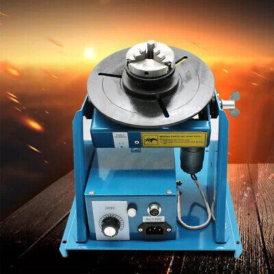 Rotary Welding Positioner Turntable Table For Under 10kg Flange Steel Pipe 110v