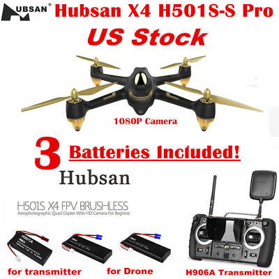 Hubsan X4 H501S Pro FPV Drone Brushless Quadcopter 5.8G 1080P Headless GPS RTF