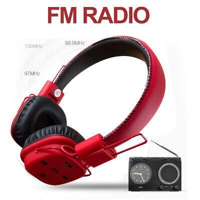 Luusama Red Wireless Bluetooth HIFI Iphone Samsung Over-Ear