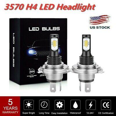 2x H4/9003 LED Headlight CSP 100W Fog light bulb Kit Hi/Lo 6000K HB2 Driving