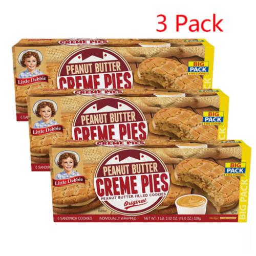 Little Debbie Peanut Butter Crème Pies (3.1oz / 6pk) Free Shipping Hot Sale