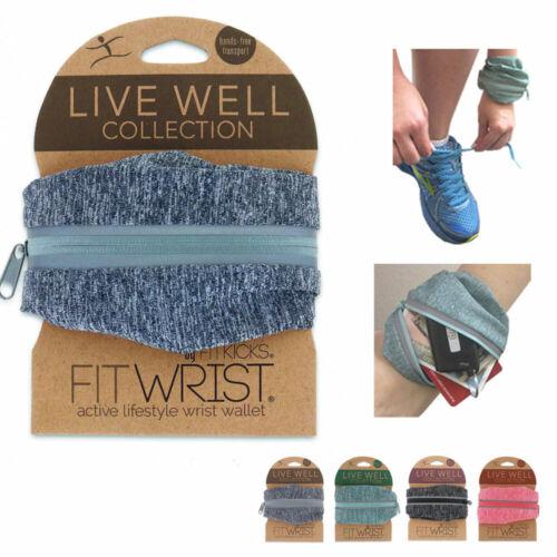 Fit Wrist Wallet Arm Pouch Band Zipper Running Travel Gym Sports Money ID Card