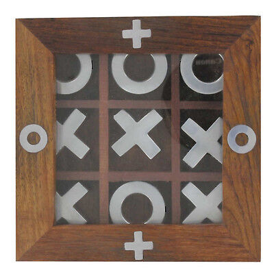 Executive Wooden Tic-Tac-Toe Desktop Toy Hobby Game ()