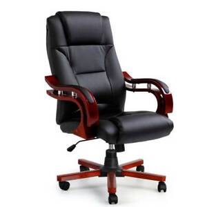 Artiss Executive Wooden Office Chair Wood Computer Chairs