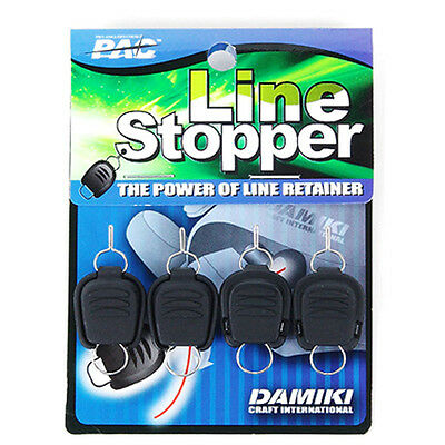 Damiki Baitcasting Fishing Line Stopper Keeper 4pcs Braided Nylon Line Holder