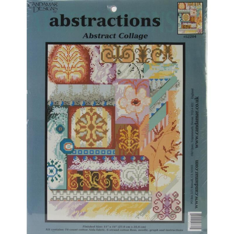 Candamar Designs Abstractions Abstract Collage Counted Cross Stitch Kit, NEW