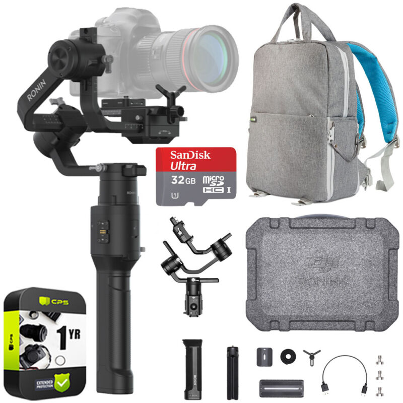 DJI Ronin-S Essentials Kit 3-Axis Handheld Gimbal Stabilizer Ultimate Bundle