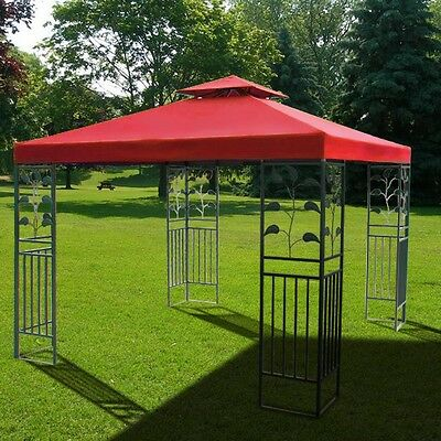 12' x 12' Red Replacement Patio Gazebo Top Canopy Cover Outdoor Garden UV Shade on Rummage