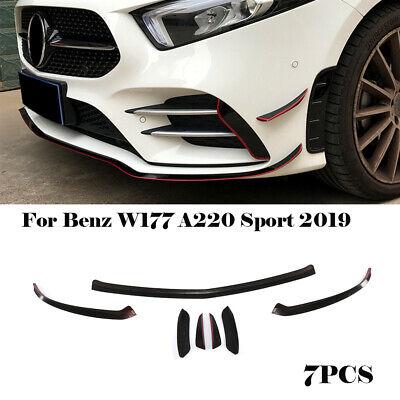 für Mercedes W177 A220 Spoilerlippe Front Splitter LippeFins Canard Schwarz Rot