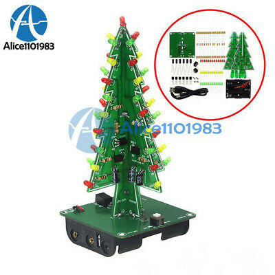 Christmas Trees Led Diy Kit Professional Red Green Flash Led Circuit