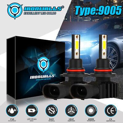 IRONWALLS 9005 HB3 H10 9145 LED Headlight Kits 2200W 330000LM FOG Bulbs 6000K