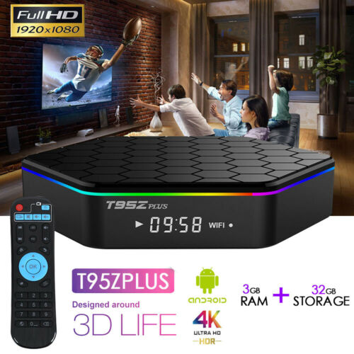 US Ship T95Z Plus 3GB+32GB Android 7.1 S912 Smart TV Box Octa Core Dual WIFI 4K