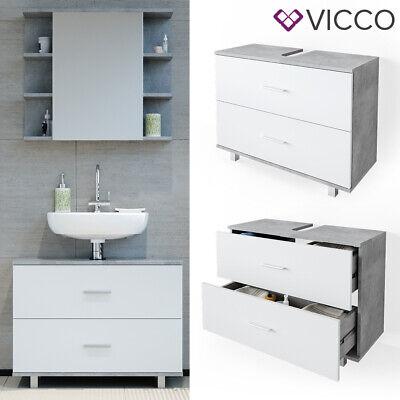 Waschbeckenunterschrank ILIAS Beton Schublade Unterschrank Badezimmer VICCO