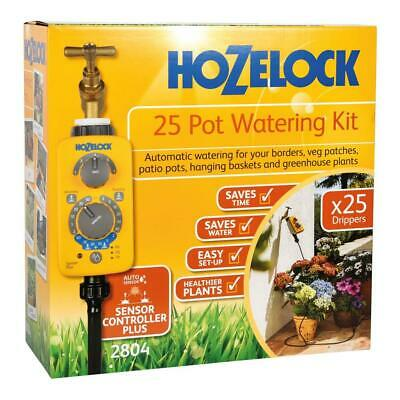 Hozelock Automatic 25 Plant Pot Drip Emitter Watering Kit, Healthy Flower Basket