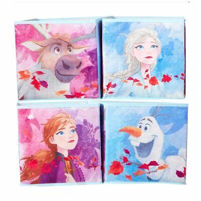 Disney Frozen Infantil Cubo Juguete Almacenaje 4 Plegable Cajas - Elsa Anna...