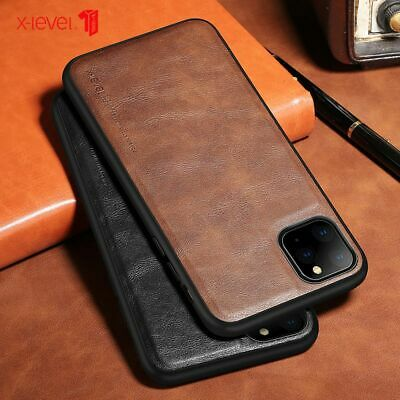 For iPhone 11 Pro Max 7 8 6s XS Luxury Leather Shockproof Slim Phone Case Cover