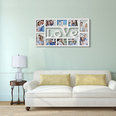 """"""" Love """"Collage Picture Wall Hanging Photo Frame Wedding Gift Home Decor"""