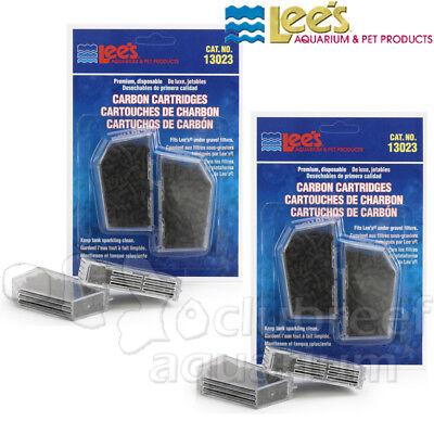 Premium Activated Carbon Filter Cartridges Lees Aquarium Under-Gravel/UGF (2)2Pk
