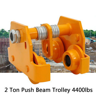 New 2t Push Beam Trolley Fit For I Beam Gantry Crane Hoist Winch Shop Usa Ship