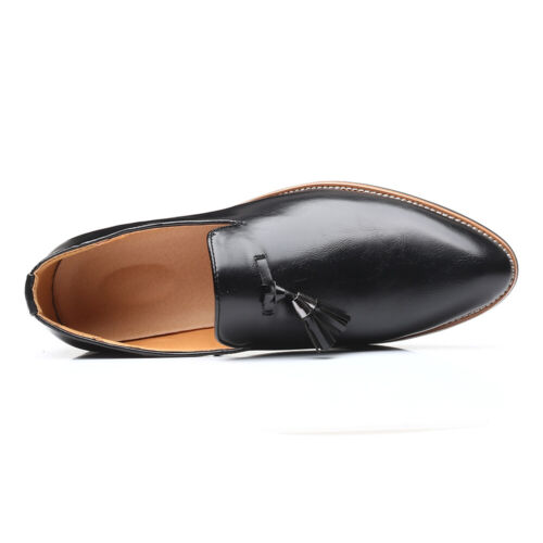 Details about  /Men Pointed Toe Oxfords Slip on Party Formal British Faux Leather Wedding Shoes