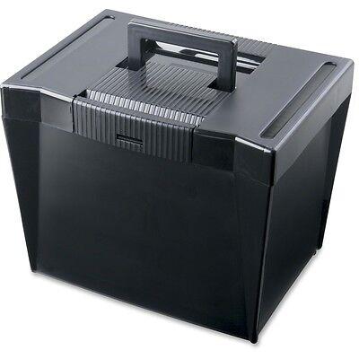 Portable File Storage Box Letter Plastic 13 12 X 10 14 X 10 78 Black