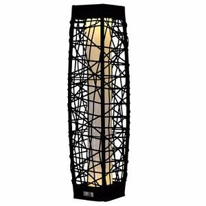 Luxo Antigua Outdoor Solar Wicker Floor Lamp - Black Seven Hills Blacktown Area Preview