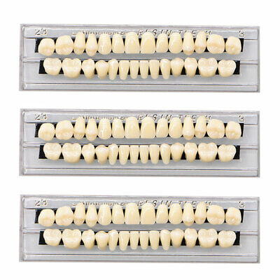 84pcs3sets Acrylic Resin Tooth Dental Full Set Teeth Upper Lower Shade 23 A3