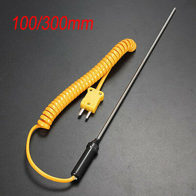 New 100300mm K-type Thermocouple Probe Sensor 0-600c Temperature Controller Us