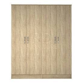 Beatrice 4 door wardrobe oak
