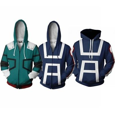 Boku No/My Hero Academia S3 Izuku Midoriya Cosplay Hoodie Jacket Coat Sweater US (Heros Costumes)