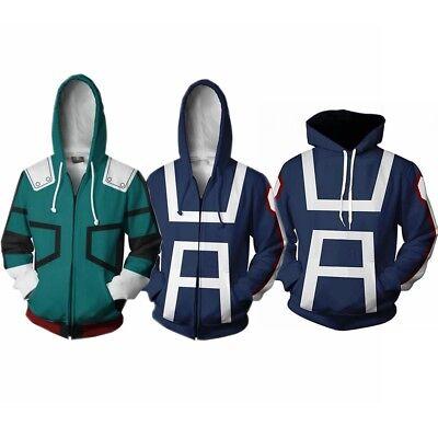 Boku No/My Hero Academia S3 Izuku Midoriya Cosplay Hoodie Jacket Coat Sweater US