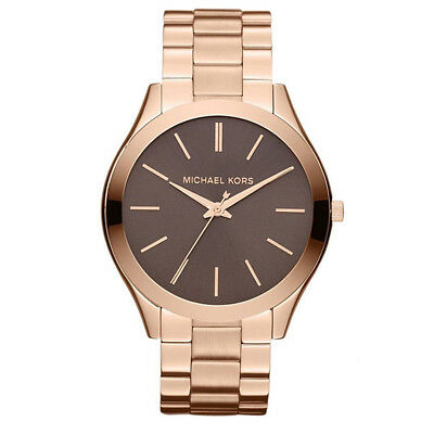 New Michael Kors MK3181 41mm Runway Stainless Steel Rose Gold Tone Women's Watch