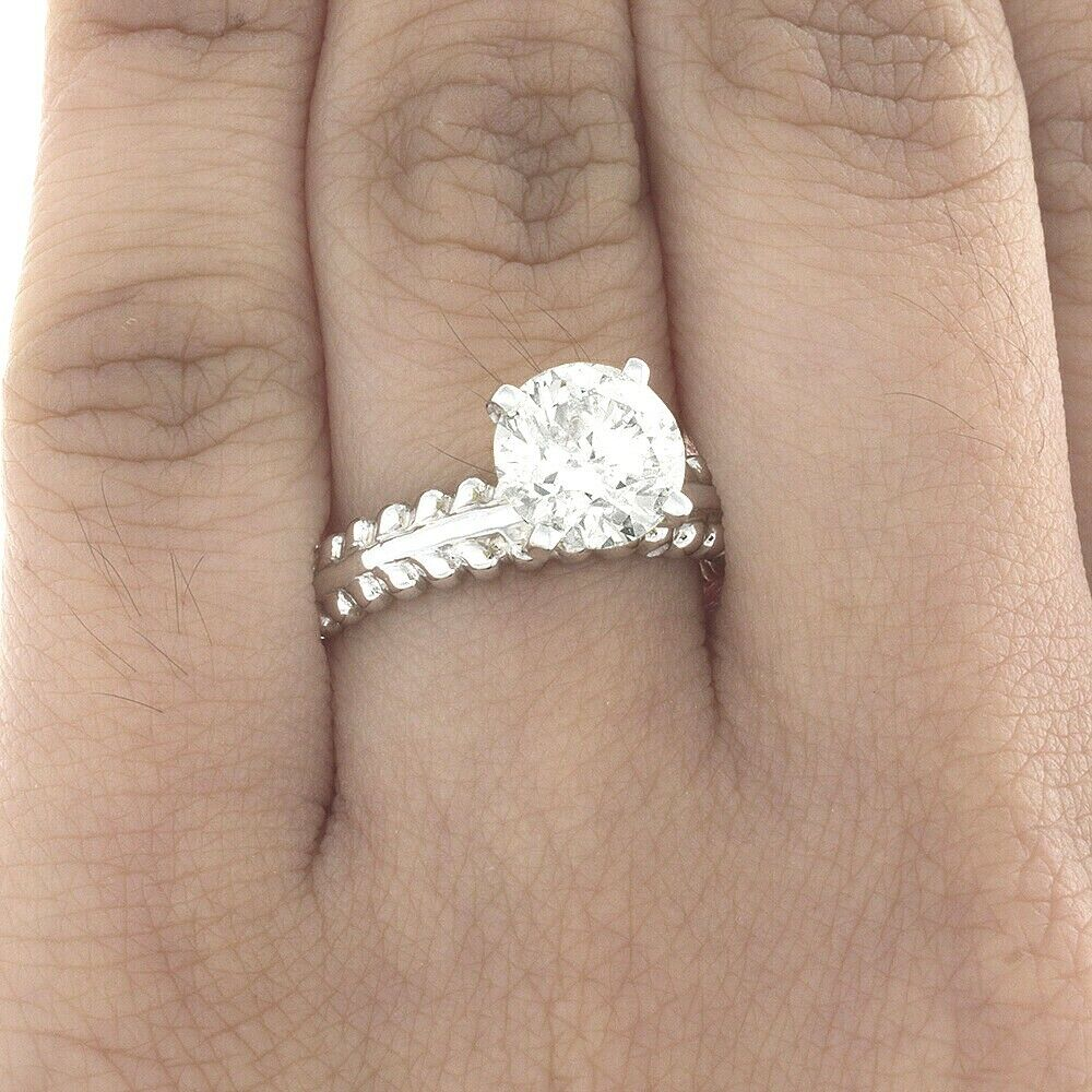 Natural Diamond Solitaire Engagement GIA Certified Ring 0.70 Ct Round Cut 18k