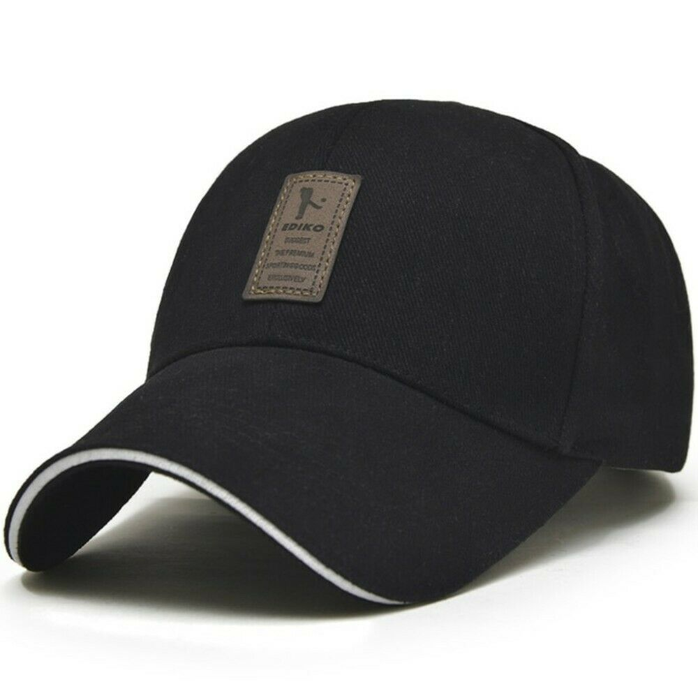 Men s Baseball Hat Adjustable Cap Casual Hats Solid Color Fashion Snapback f8dd7720a141