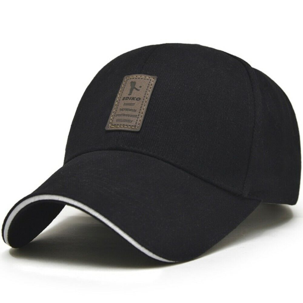 cfefb0aa6ac2 Details about Men s Baseball Hat Adjustable Cap Casual Hats Solid Color  Fashion Snapback