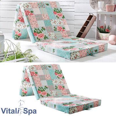 VitaliSpa® Colchón Plegable Cama Invitados Supletoria Viaje patchwork