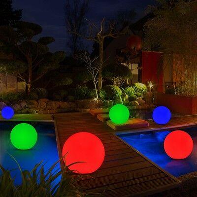 6 Teich Kugeln Beleuchtung Deko Leuchten Terrasse Lampe Party Schwimm Lichter