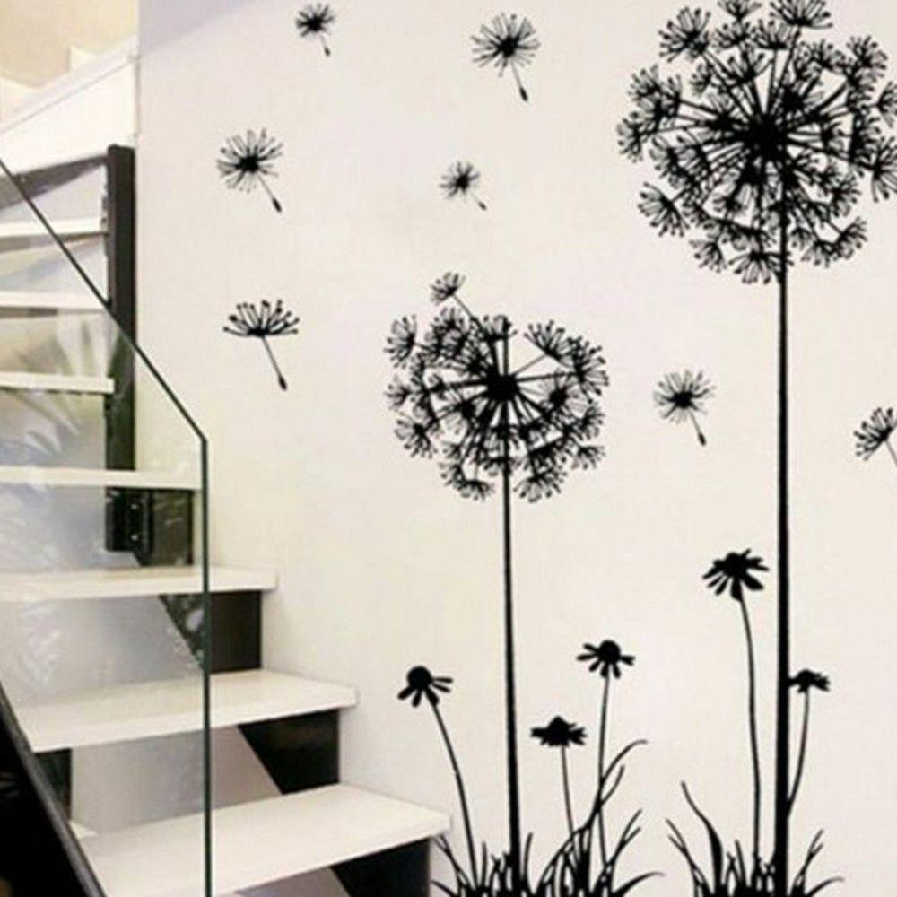 Home Decoration - Flower Dandelion Wall Art Decal Sticker Removable Mural PVC Vinyl Home Decor