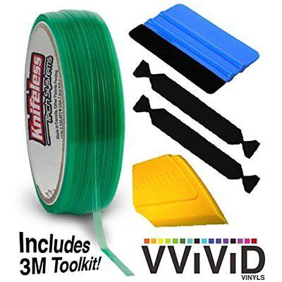 Knifeless Vinyl Wrap Cutting Tape Finishing Line 50m Plus 3m Toolkit Blue