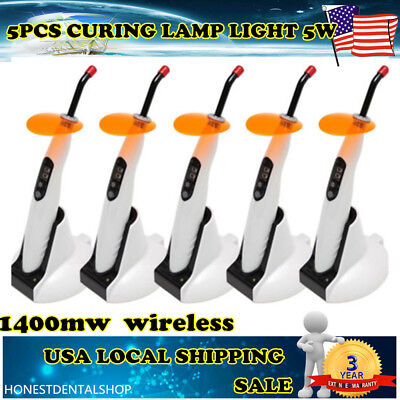 5pcs Dental Wireless Cordless Led Cure Curing Light Lamp 1400mw Woodpecker Type