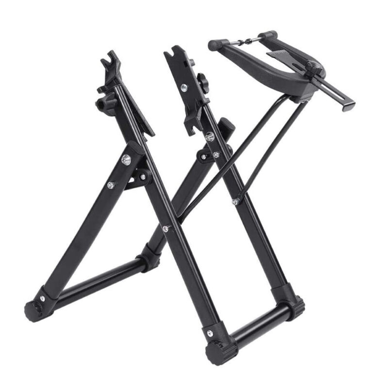"""Bicycle Wheel Truing Tire Stand Foldable Home Mechanic for 16"""" - 29"""" 700C Wheels"""
