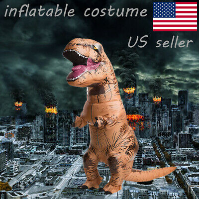 US seller Adults Kid Inflatable T-REX Costume Dinosaur Halloween Blow up Outfits - T Rex Dinosaur Halloween Costume