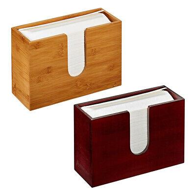 Adirhome Bamboo Paper Towel Dispenser Paper Towel 150 Multifold Paper Holder